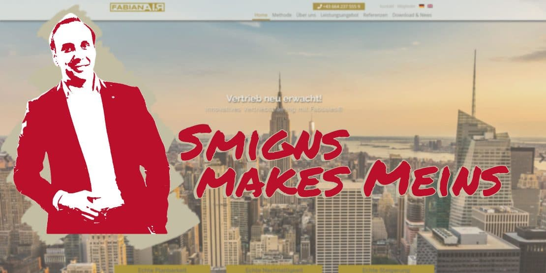 smigns reference for websites and graphic design, client FabianAIR