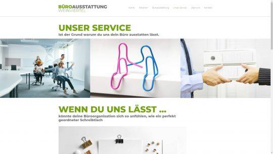 Referenz Website von Büroausstattung Weinviertel