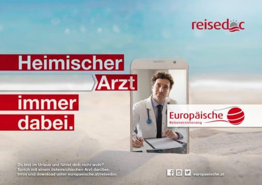 """Referenz Europäische - Kampagne """"Reisedoc"""""""