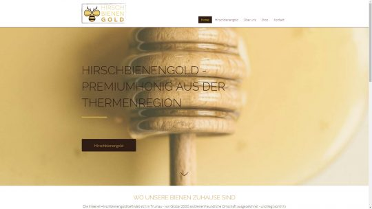 Referenz Website von Hirschbienengold