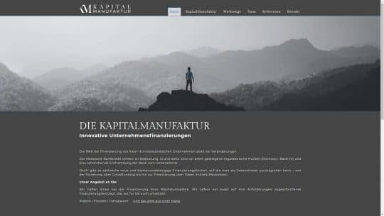Referenz Website von Kapitalmanufaktur