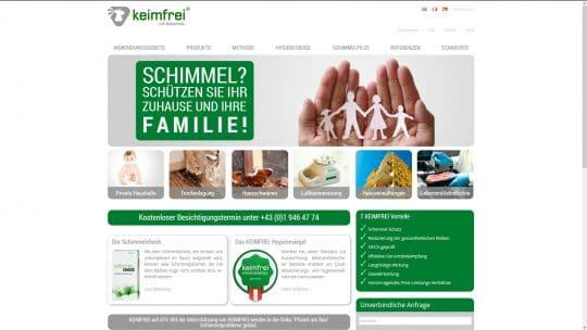 Referenz Website von Keimfrei
