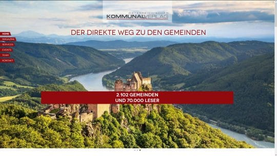 Referenz Website von Kommunalverlag