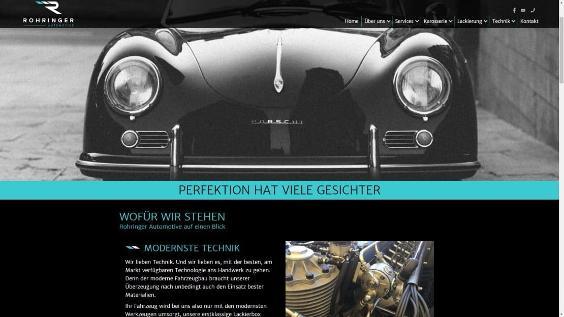 Referenz Website von Rohringer Automotive