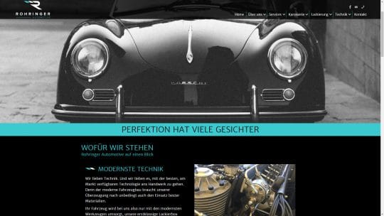 Referenz Website von Rohringer Automotive