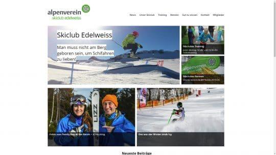 Referenz Website von Skiclub Edelweiss