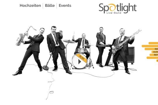 Referenz Website von Spotlight Band
