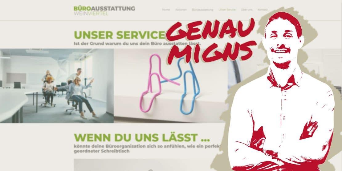 smigns referenz für websites und grafikdesign, Kunde Büroausstattung Weinviertel