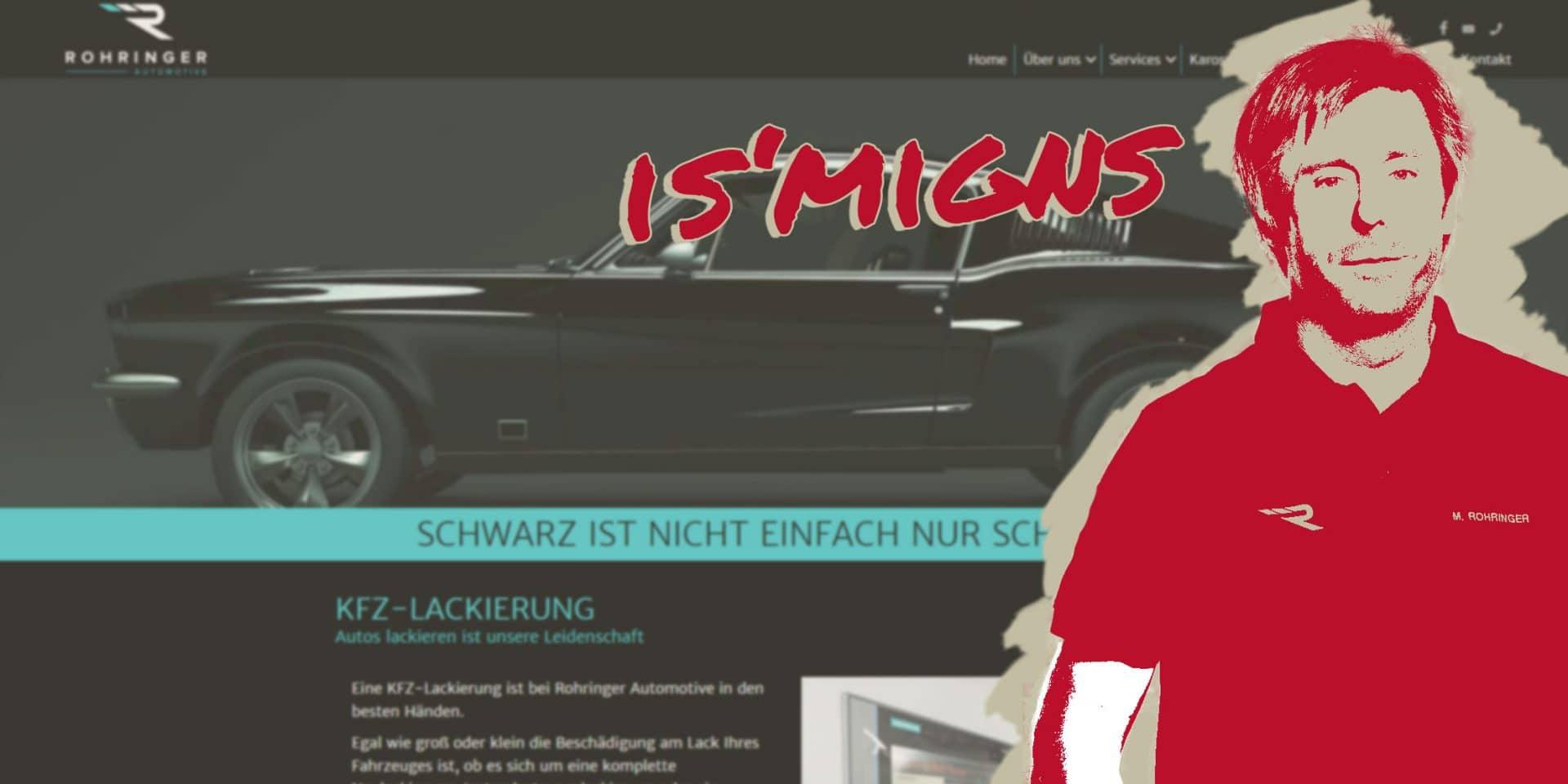 smigns referenz für websites und grafikdesign, Kunde Rohringer